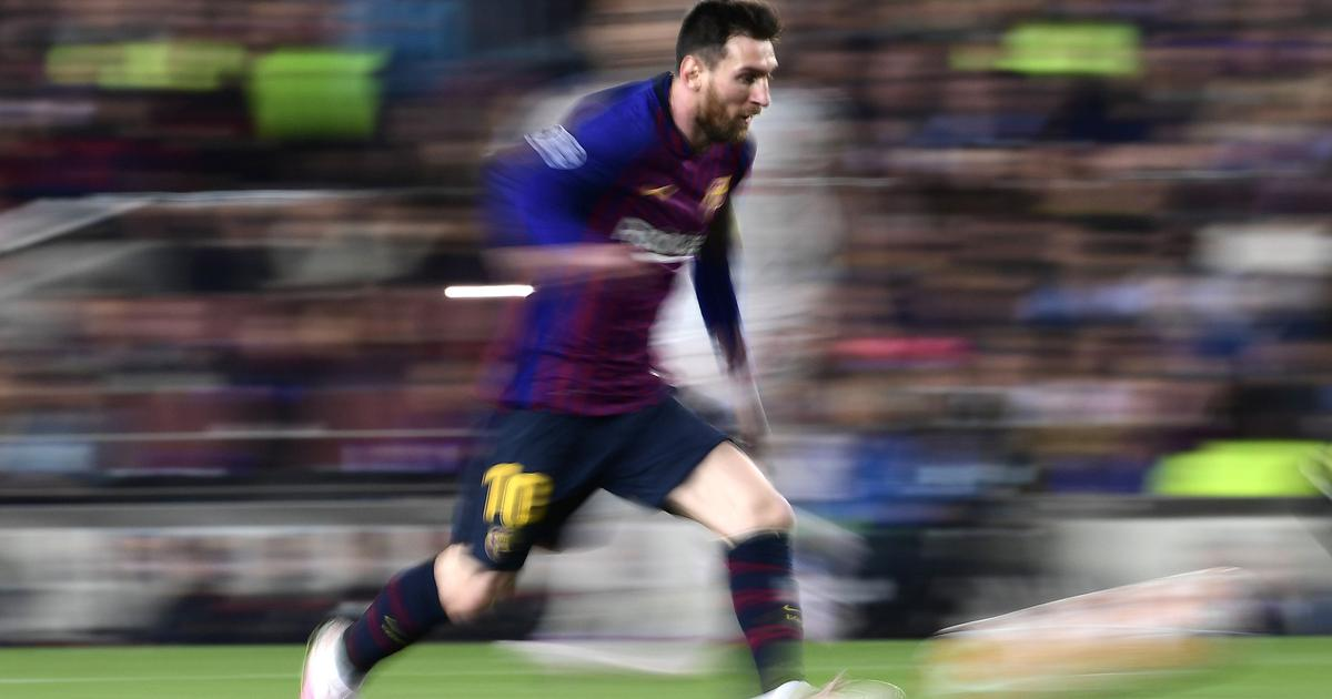 caf65575df5 The little genius defies logic  Twitter celebrates  Messi600 as Barcelona  down Liverpool