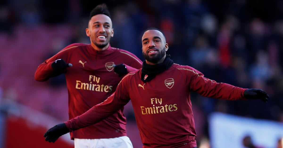 703bd5929 Arsenal bank on Lacazette and Aubameyang to fire them into Europa League  finals