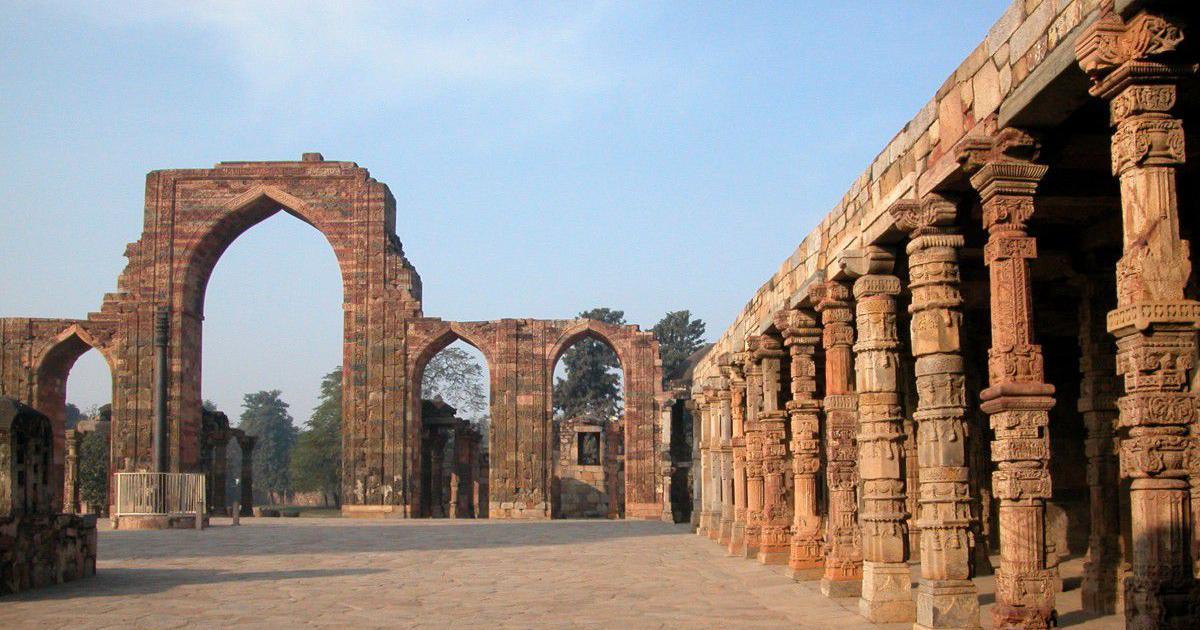 This mosque in Delhi's Qutub complex set the template for India's distinctive Islamic architecture