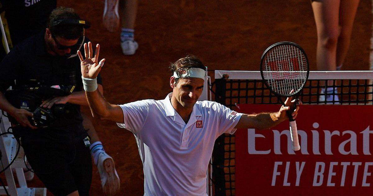 Italian Open: Roger Federer's Rome return delayed as rain cancels day's plays