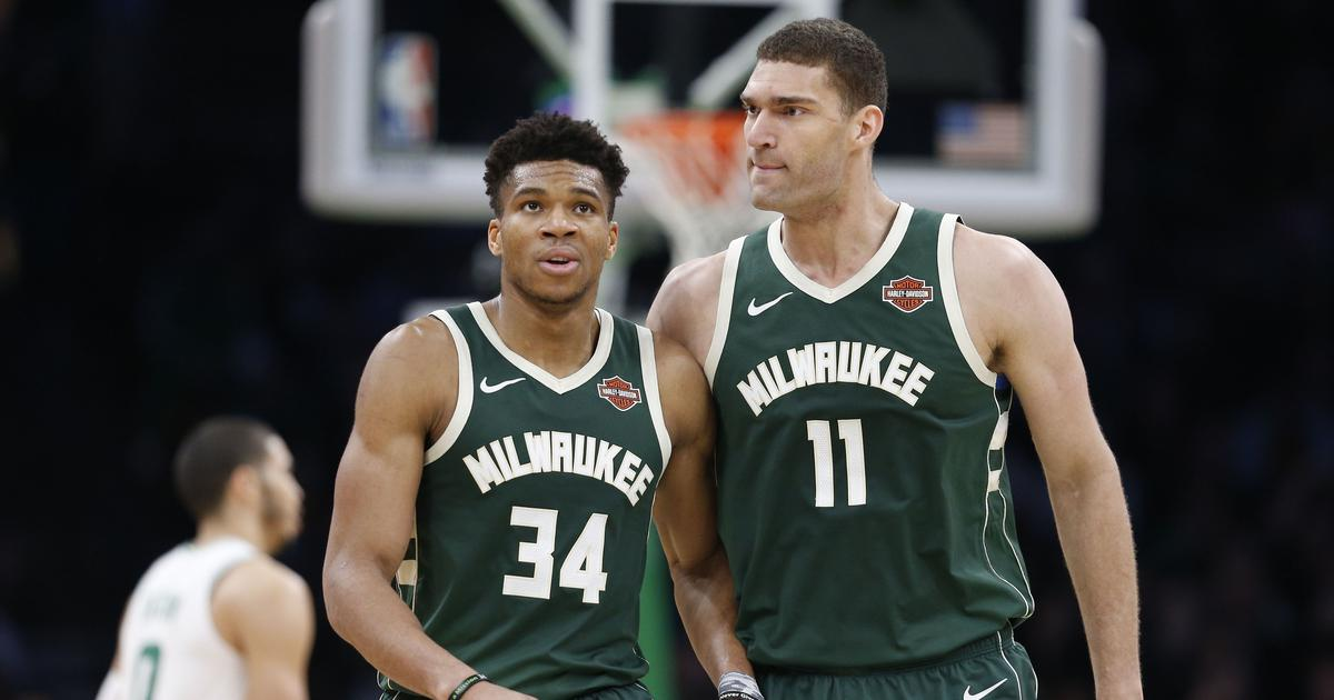 NBA playoffs: Brook Lopez scores 29 points as Bucks fight back to beat Raptors in opener