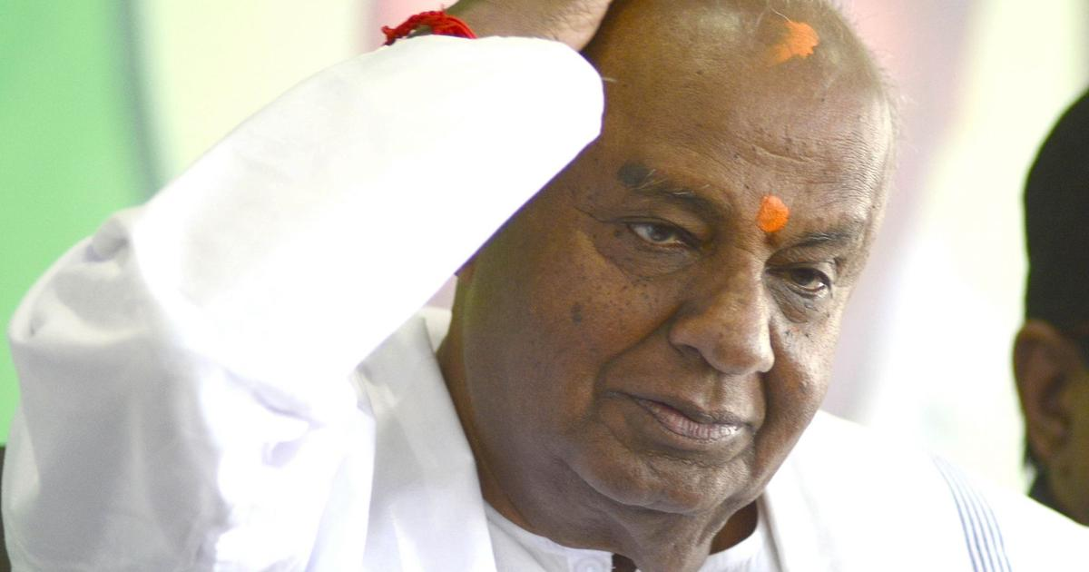 Karnataka: HD Devegowda loses from Tumkur, grandson Nikhil Kumaraswamy defeated in Mandya