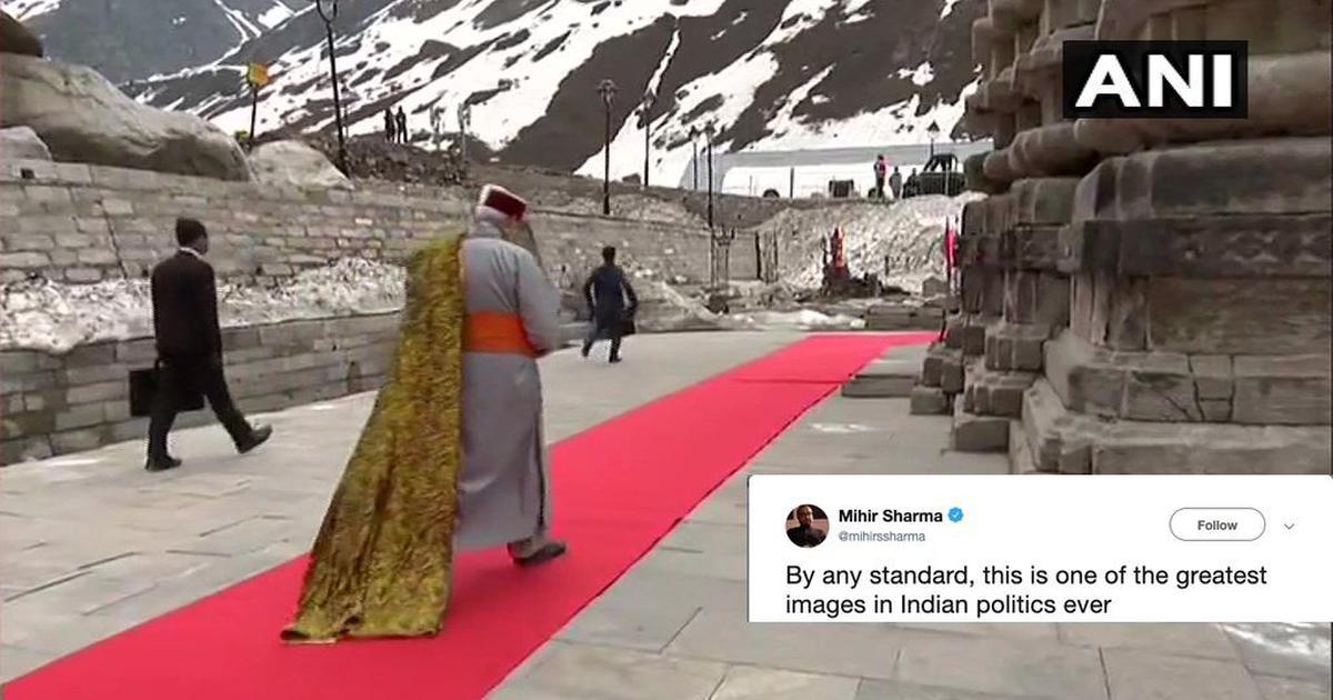 Is it #Cannes2019?': Modi's red-carpet visit to Kedarnath