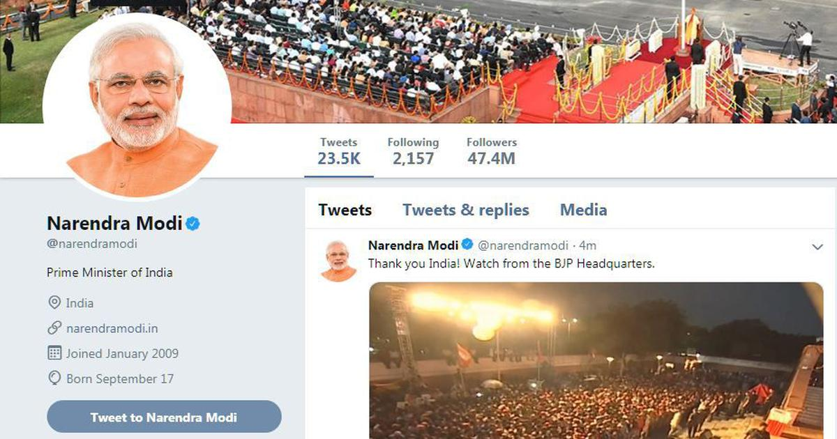Modi removes 'chowkidar' prefix from Twitter handle, says it will 'remain an integral part' of him