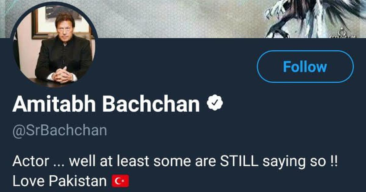 Amitabh Bachchan's Twitter account hacked, profile photo showed Pakistan PM Imran Khan