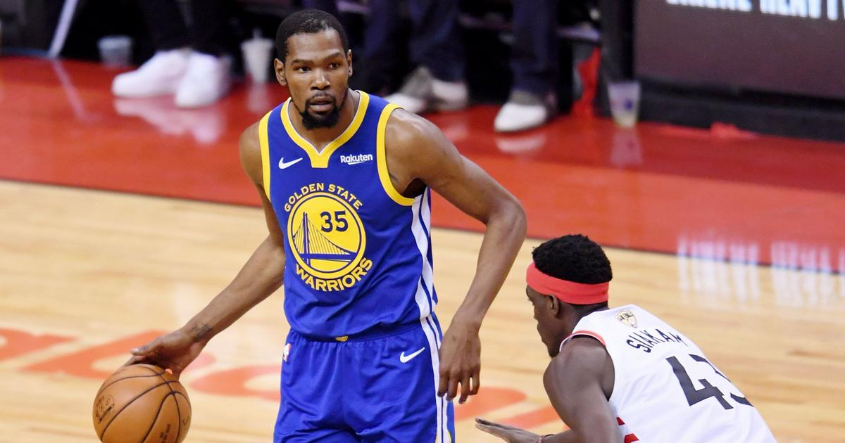 NBA Finals: Kevin Durant's return for Golden State Warriors ends in injury
