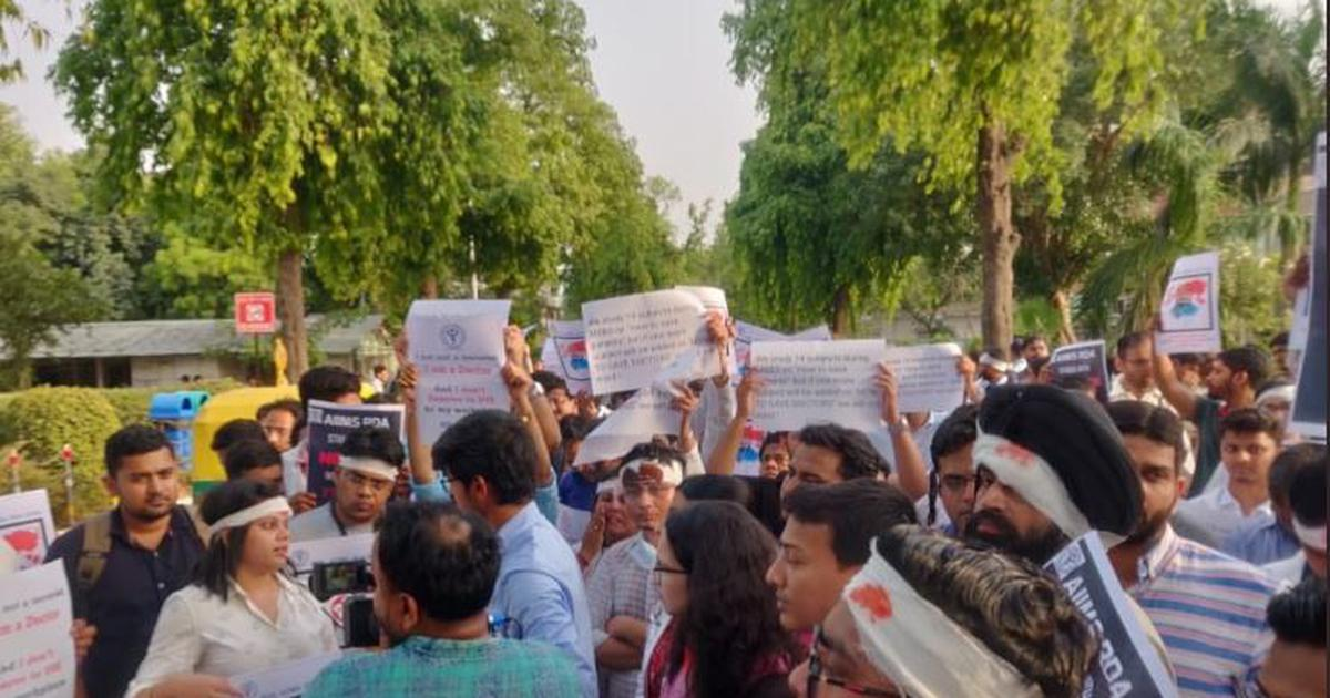 AIIMS resident doctors in Delhi to boycott work on Friday to support strike in West Bengal