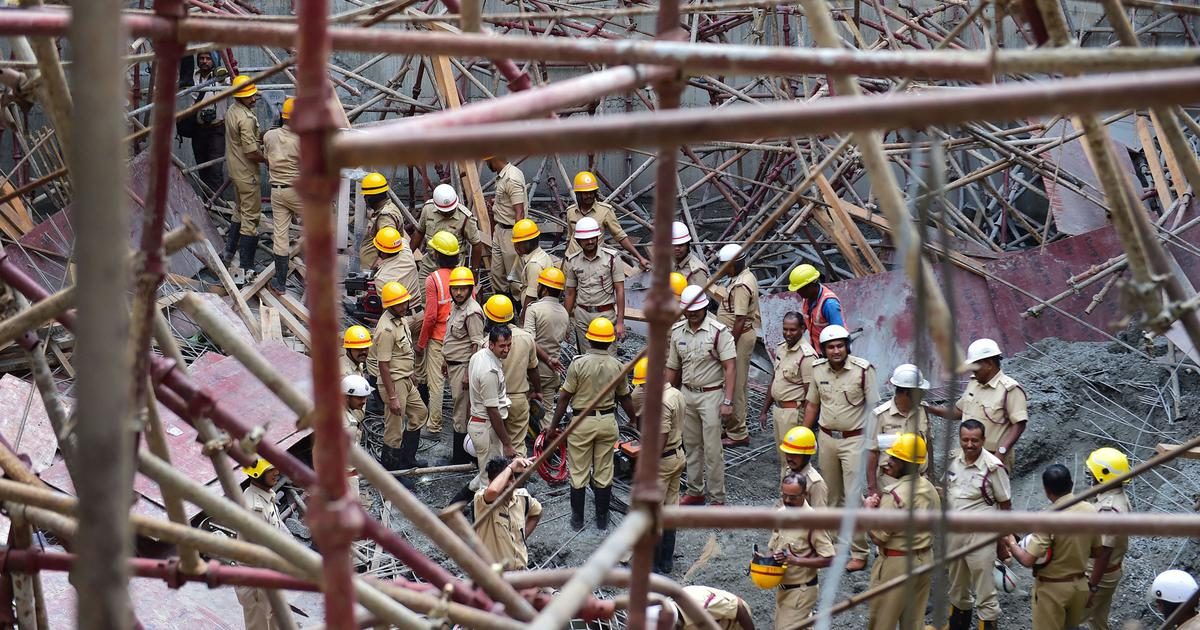 Bengaluru: Three workers dead as under-construction water tank collapses