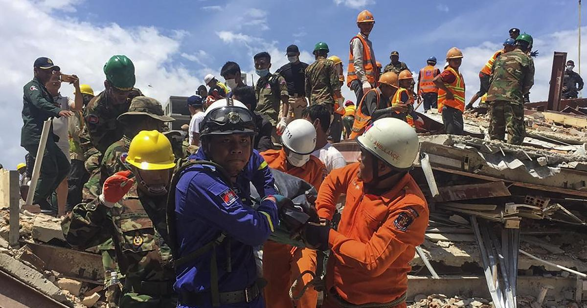 Cambodia: At least seven dead as under-construction building collapses at beach resort