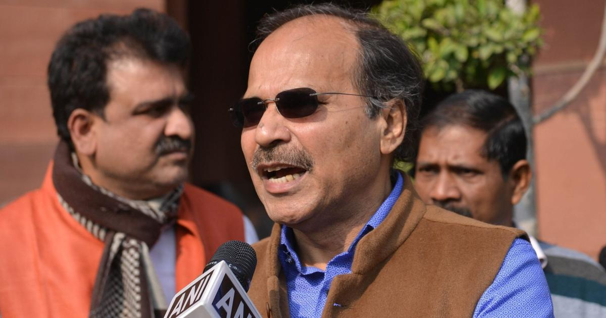 Government using tactics to suppress media, Adhir Ranjan Chowdhury says in Lok Sabha