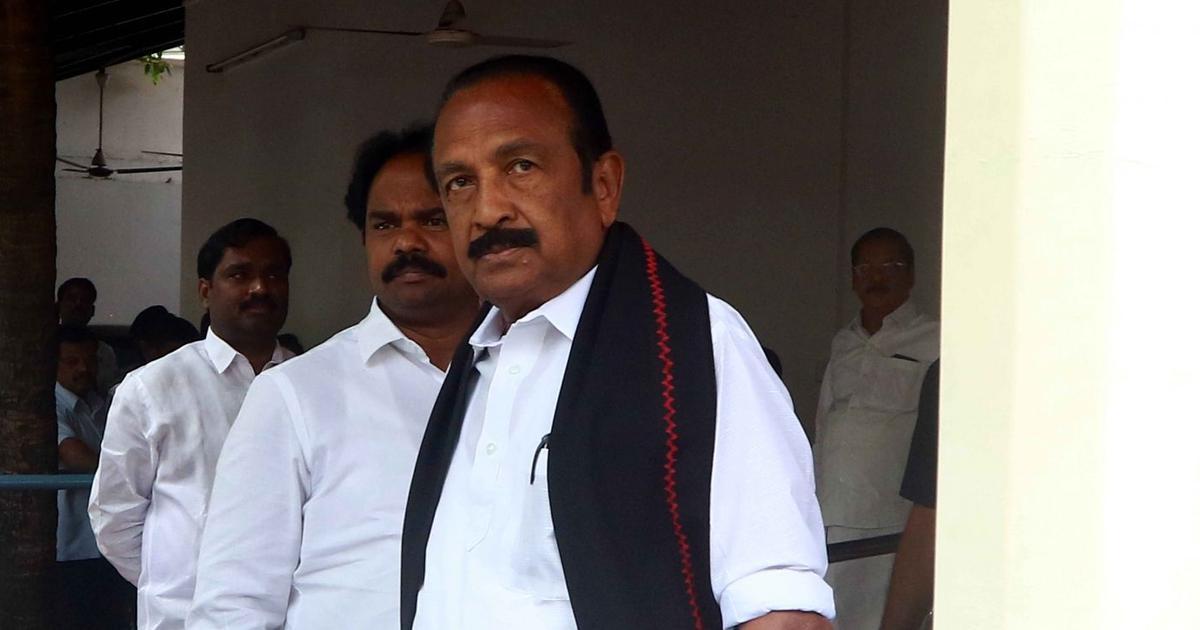Tamil Nadu: MDMK chief Vaiko's nomination for Rajya Sabha elections accepted