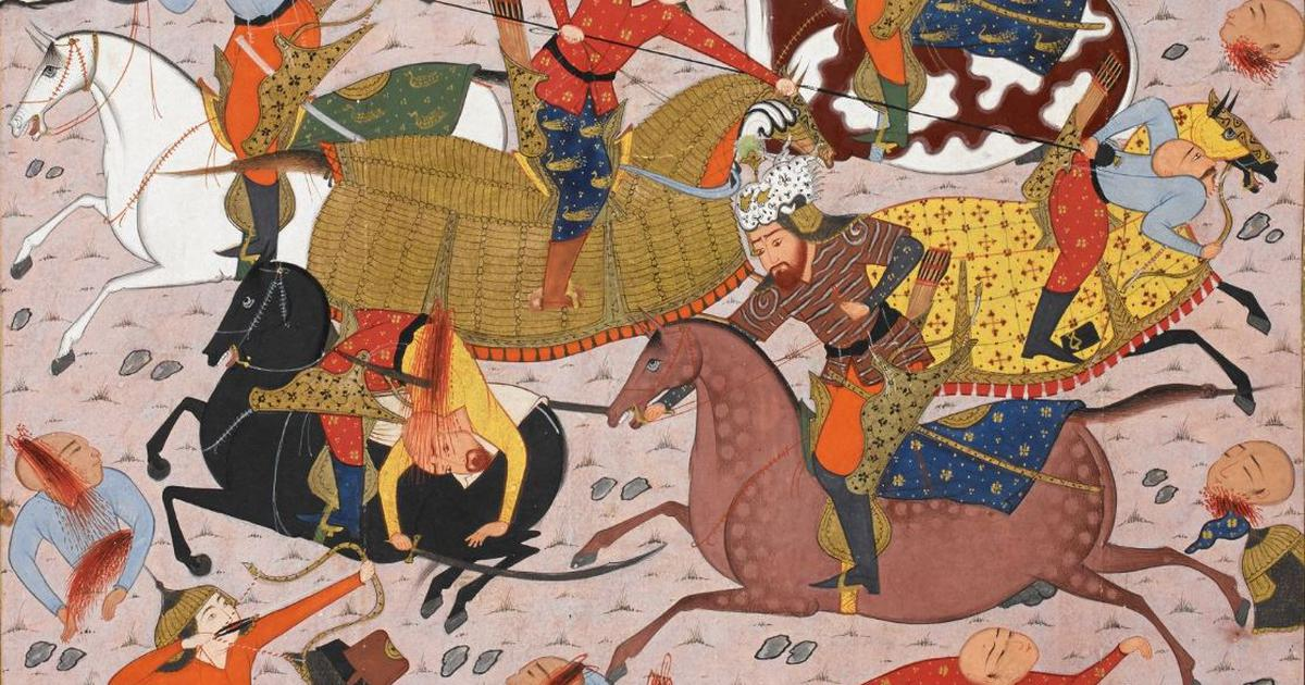 From India to Iraq, the epic warrior Rustam appears in manuscripts with red hair. Why?