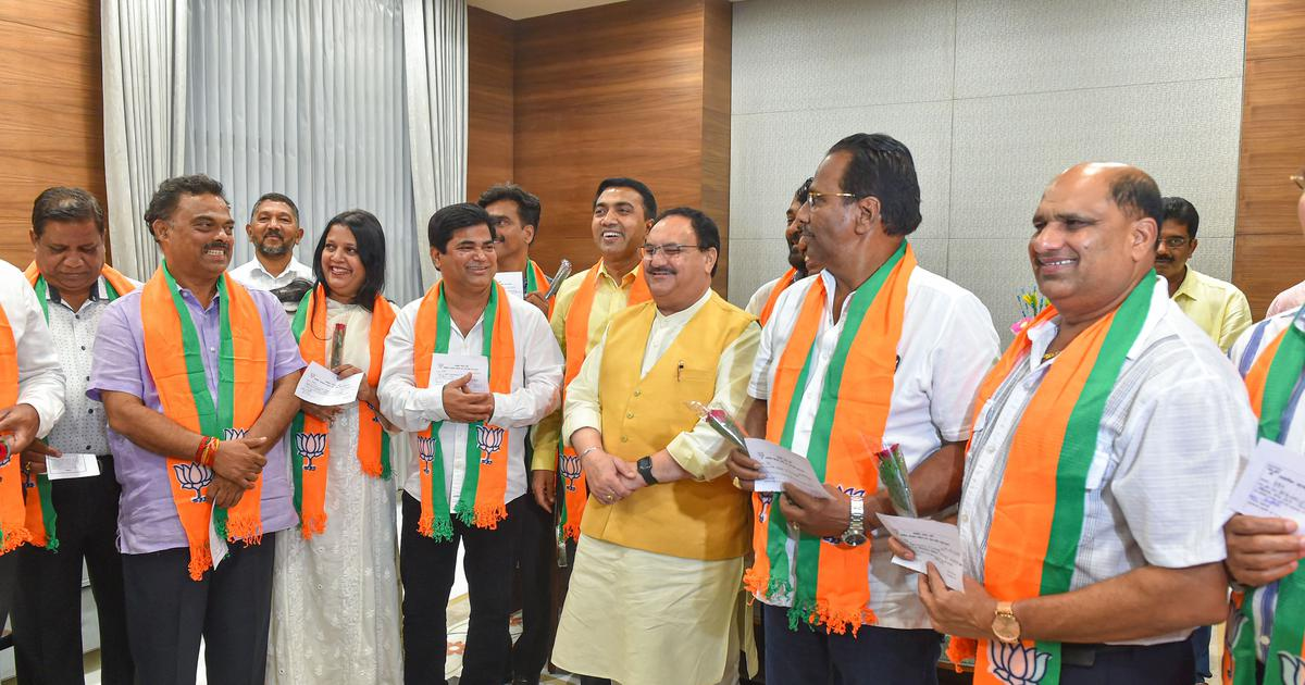 Goa: Ten former Congress MLAs formally join BJP in presence of JP Nadda