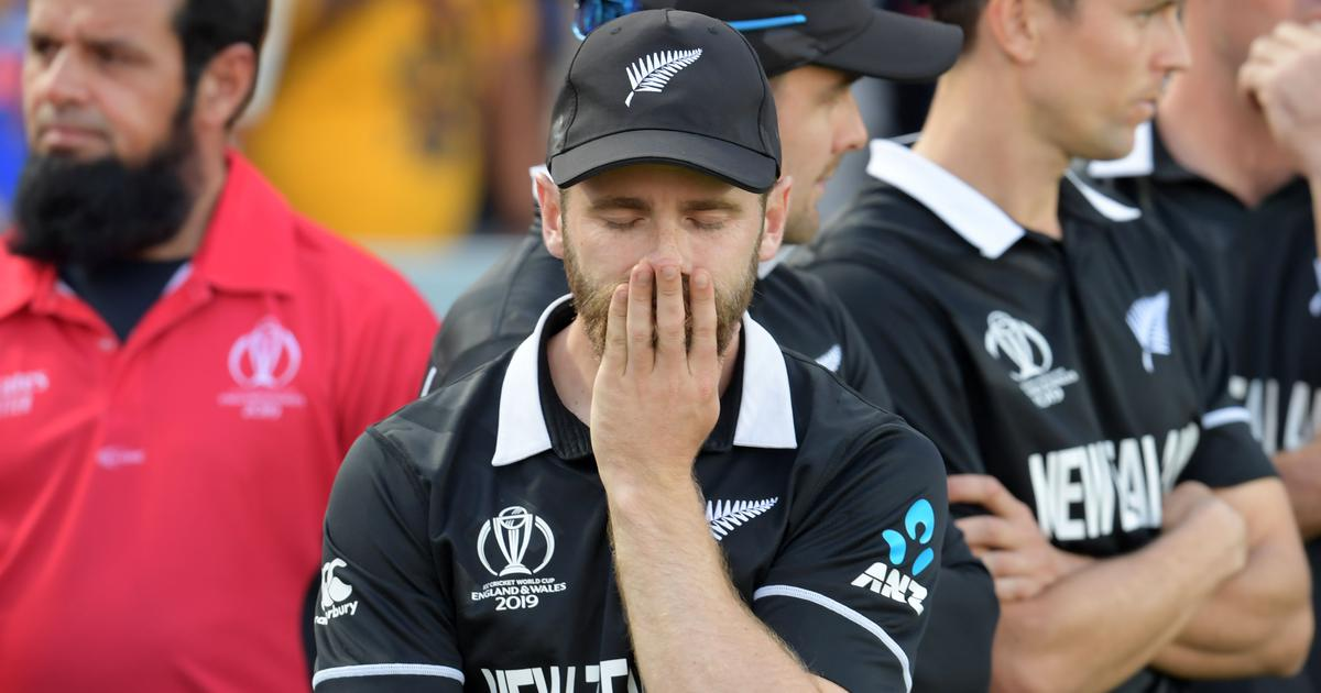 Hard to swallow: Kane Williamson gutted after New Zealand's heartbreaking World Cup loss to England