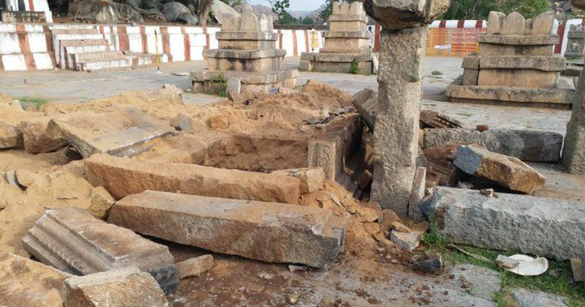 Karnataka: Six 'treasure hunters' arrested for vandalising grave of 16th-century saint near Hampi