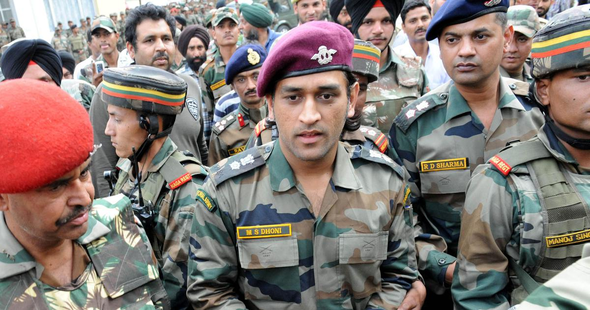 MS Dhoni to serve in Kashmir from July 31 to August 15, will be on patrolling and guard duties: Army