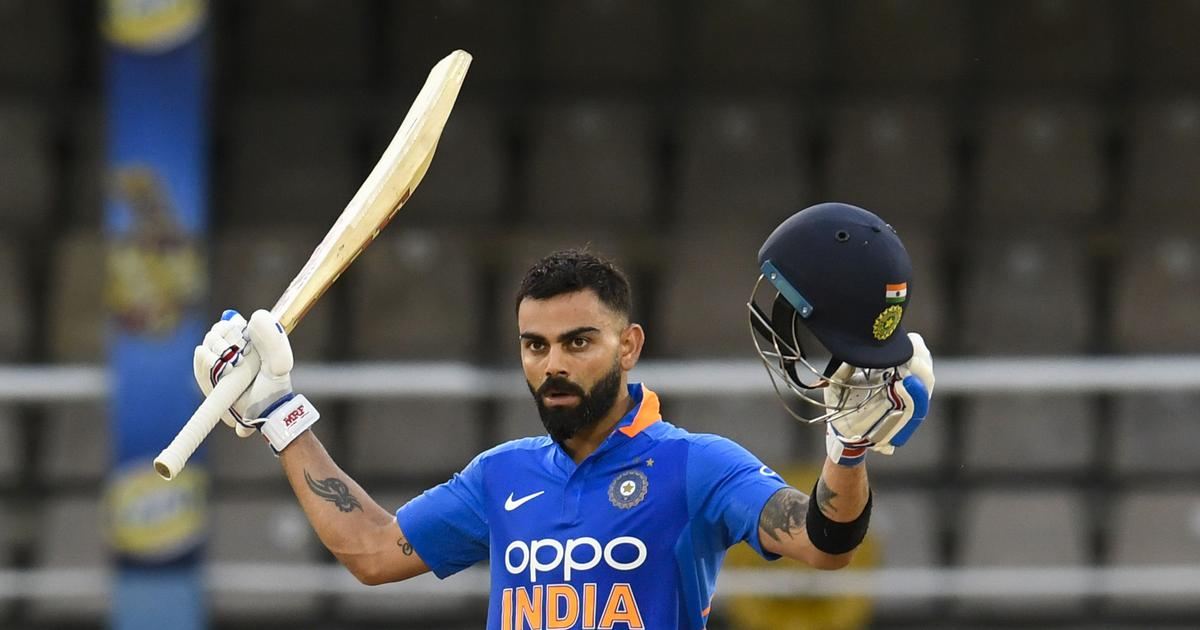 Kohli's 43rd ODI century takes India to series win against West Indies in rain-affected match