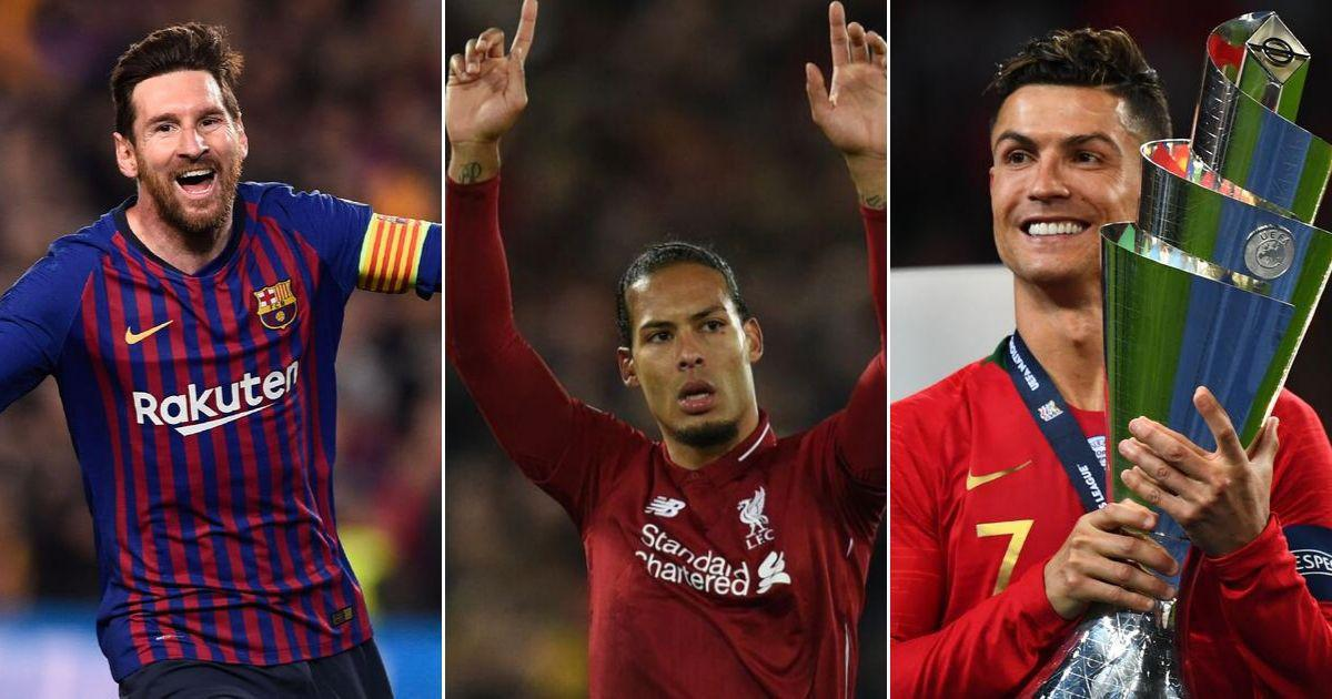 Lionel Messi, Cristiano Ronaldo and Virgil van Dijk nominated for UEFA Player of the Year award