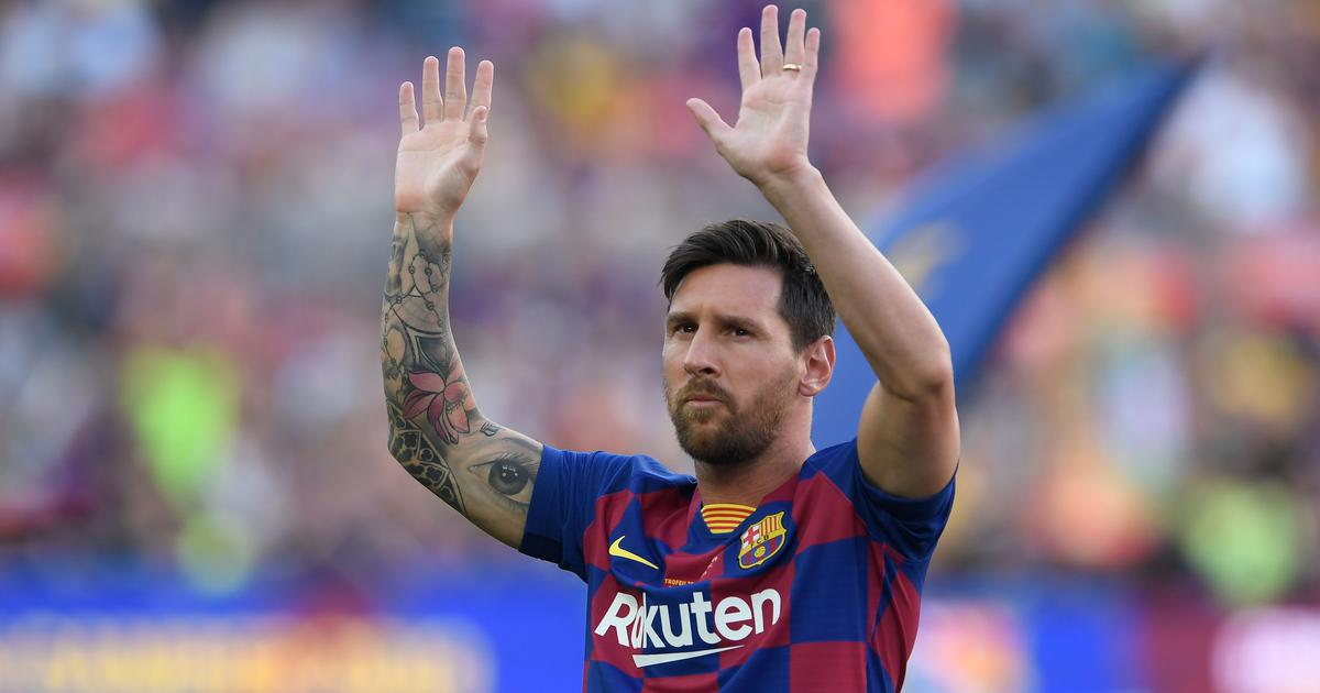 Injured Messi set to miss Barcelona's opening La Liga game against Athletic Bilbao