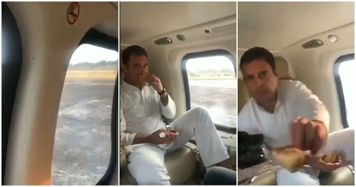 Fact check: Did Rahul Gandhi chomp down on samosas as he did an aerial survey of flood-hit Wayanad?