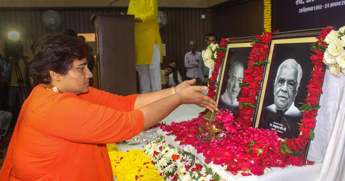 Pragya Singh Thakur blames Opposition's 'killing power' for deaths of BJP leaders