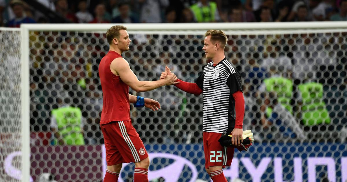 Barcelona goalkeeper Ter Stegen frustrated at playing second fiddle to Manuel Neuer for Germany