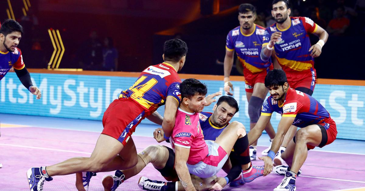 Pro Kabaddi: Red-hot UP Yoddha overcome Jaipur Pink Panthers; Dabang Delhi ease past Telugu Titans