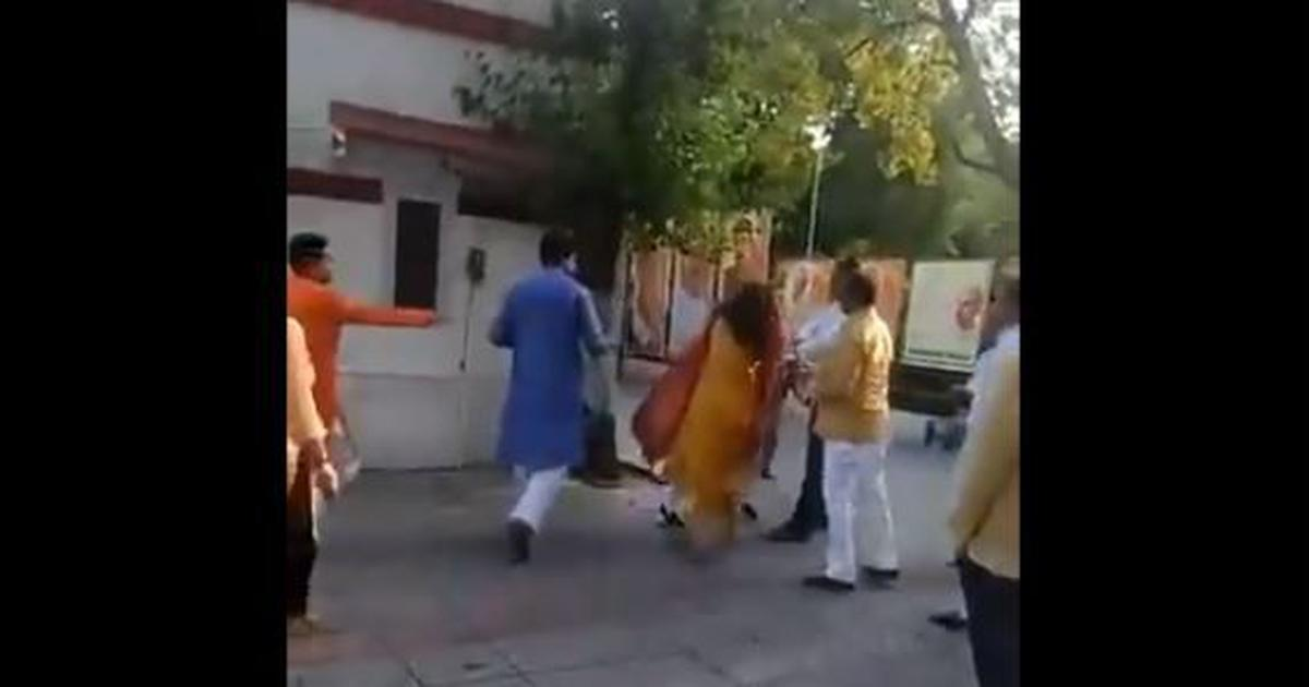 BJP leader slaps wife outside party office, removed as Mehrauli district president