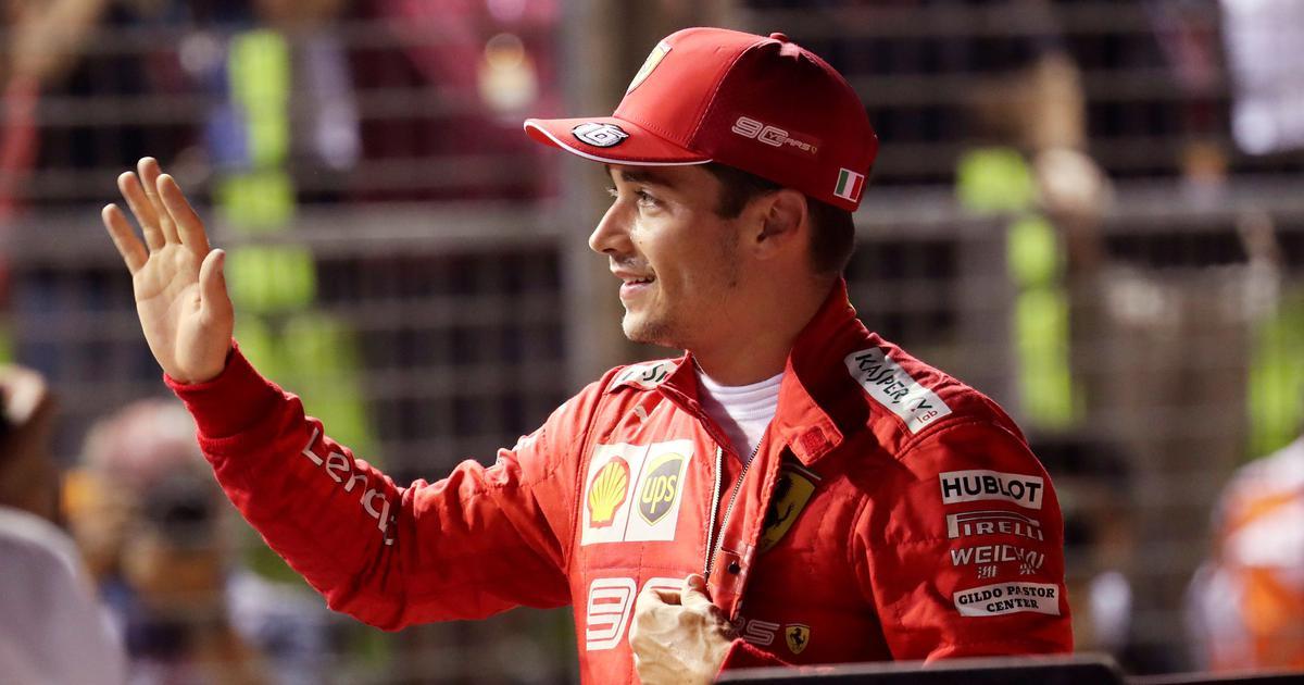 Formula One: Ferrari's Charles Leclerc continues good run to clinch pole in Singapore Grand Prix