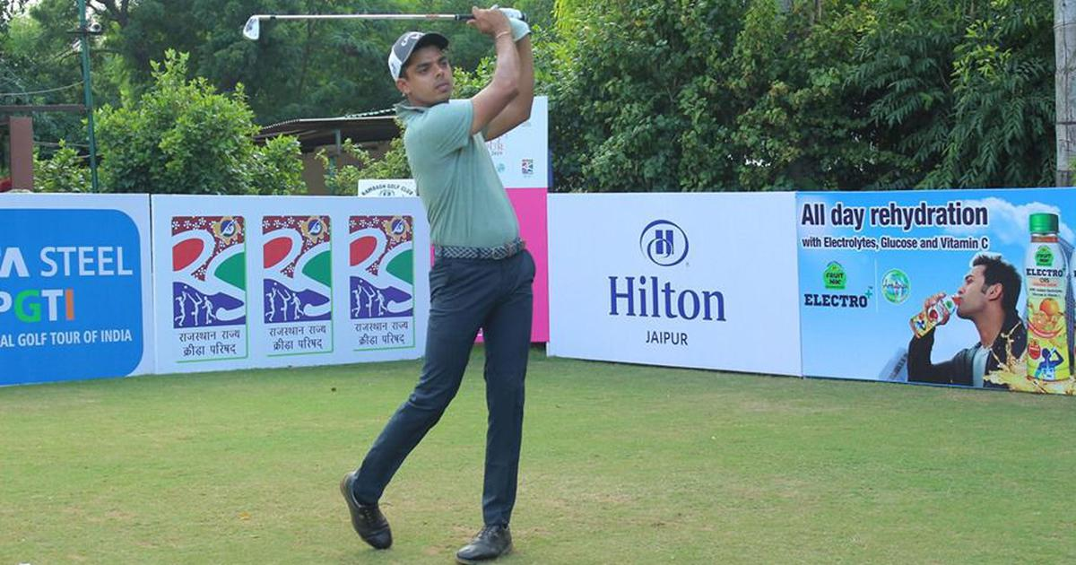 Golf: Syed Saqib Ahmed fires 61 in round two to take three-shot lead in Jaipur Open