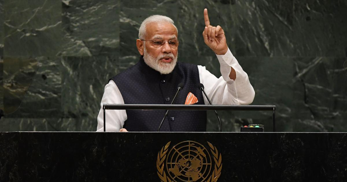 World must unite in the fight against terrorism, Narendra Modi tells UN General Assembly