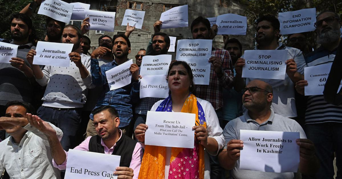 Jammu and Kashmir's new media policy is aimed at demolishing the local press, editors say