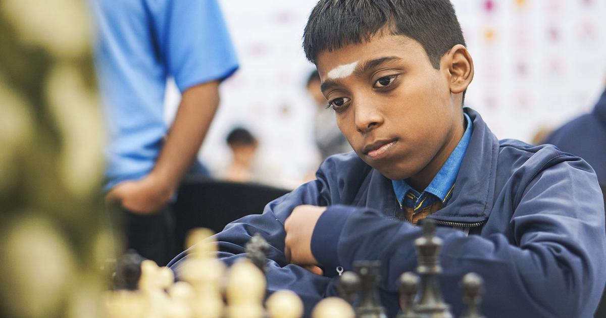 World Youth Chess C'ship: Praggnanandhaa shares lead after hard-fought draw with Iran's Gholami