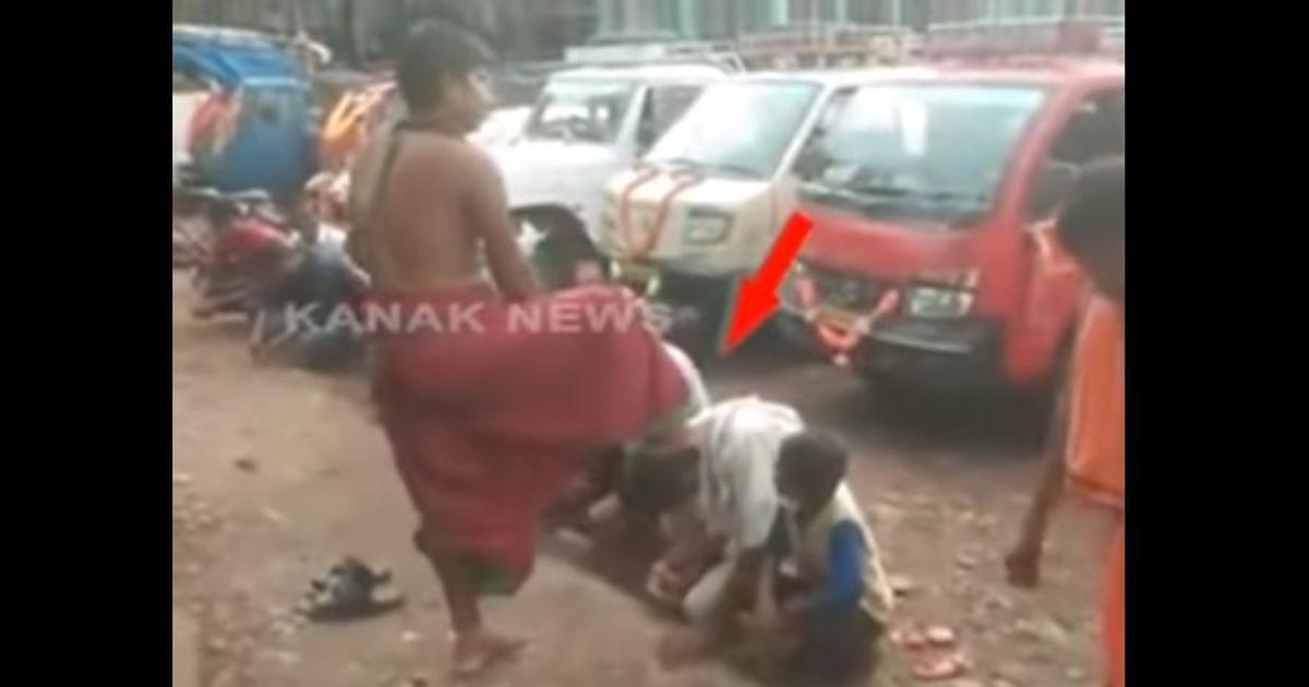 Watch: This Odisha priest has an unusual way of 'blessing' his devotees – with his feet