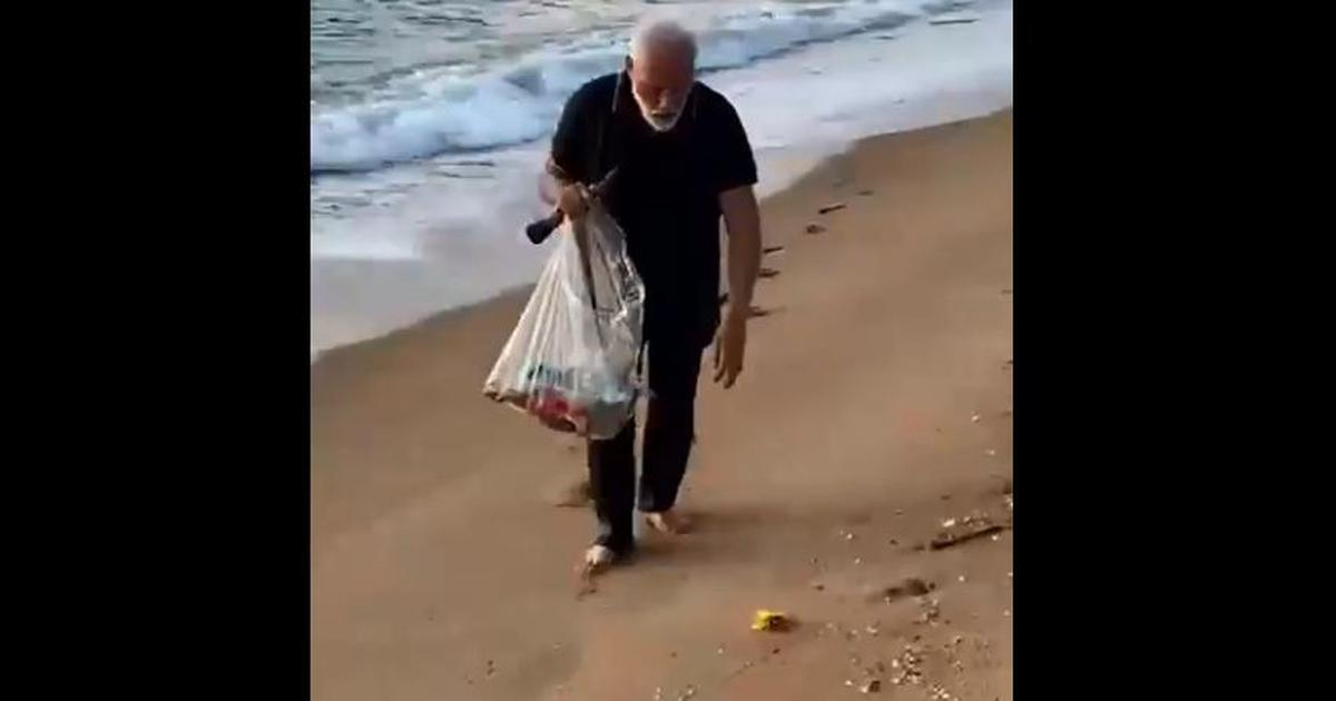 Watch: PM Modi recently 'plogged' at a beach in Tamil Nadu. This is what it means