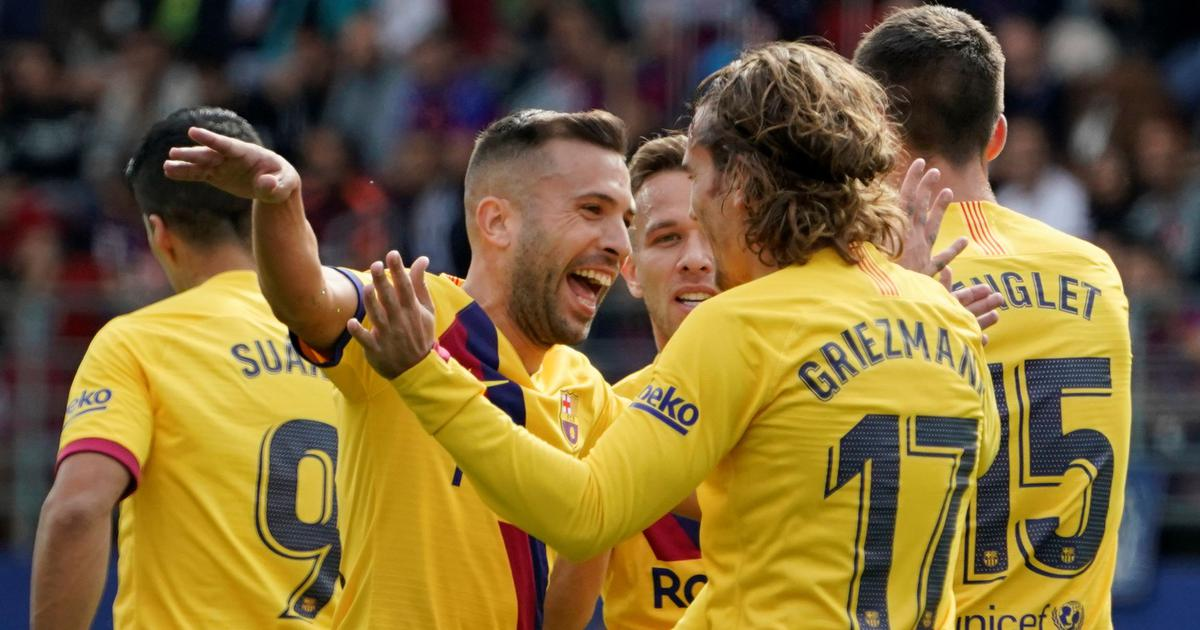 La Liga: Antoine Griezmann shines as ruthless Barcelona dismantle Eibar 3-0