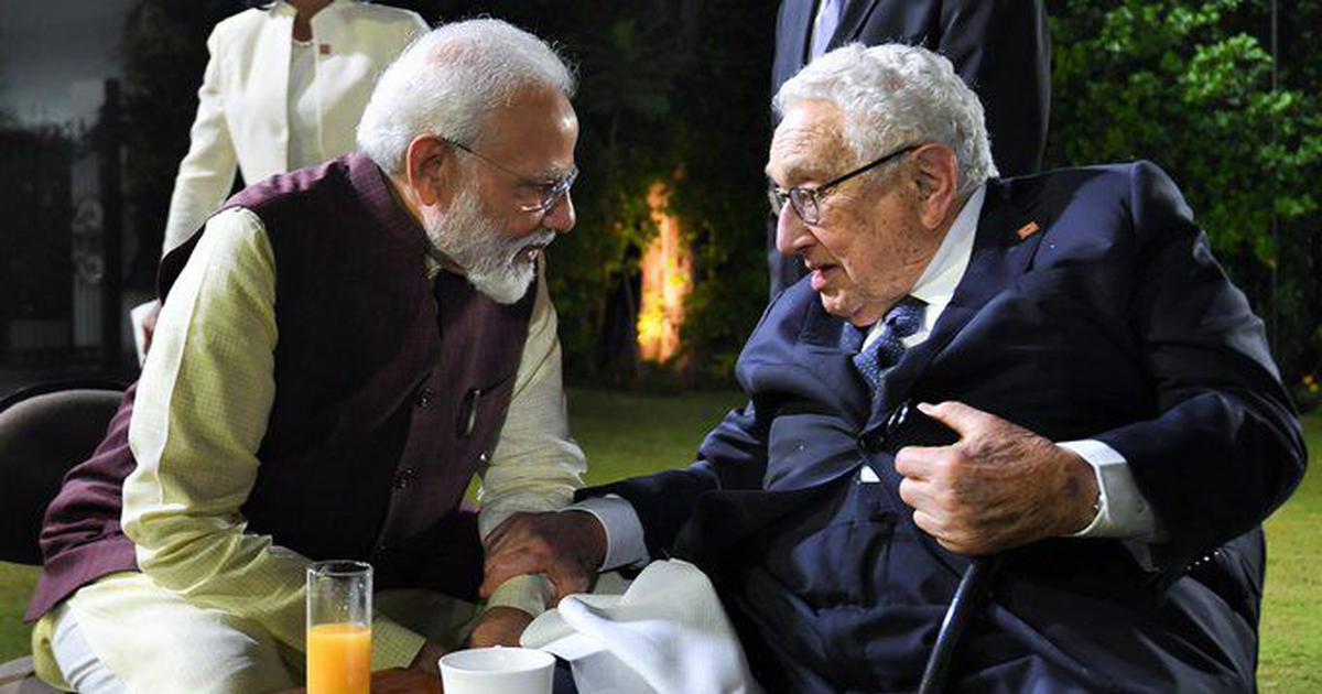 What does Modi's gushing photo-op with ardent India-hater Henry Kissinger say about politics today?