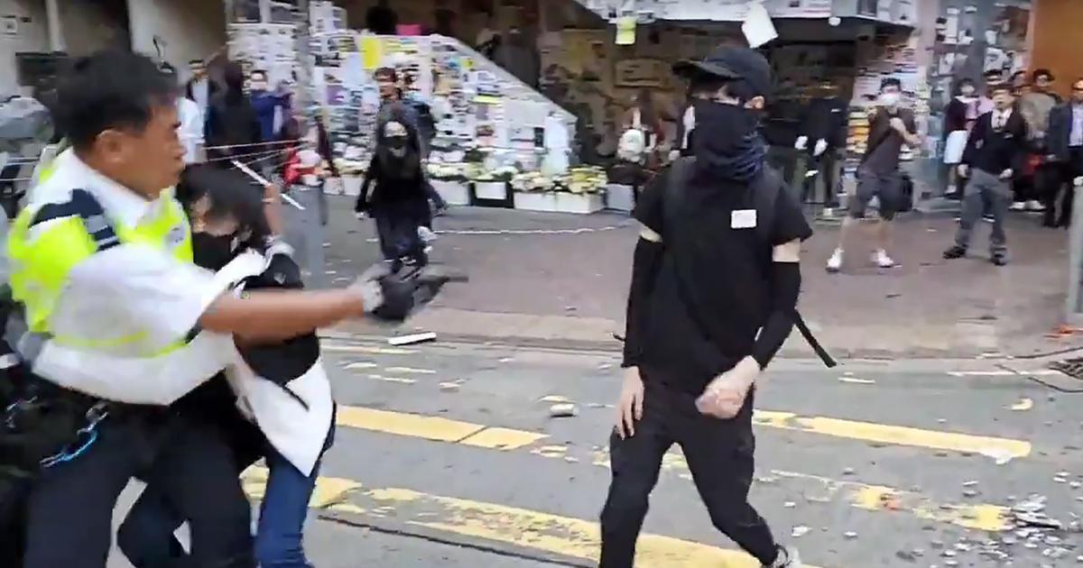 Hong Kong: Policeman shoots protestor in torso amid clashes