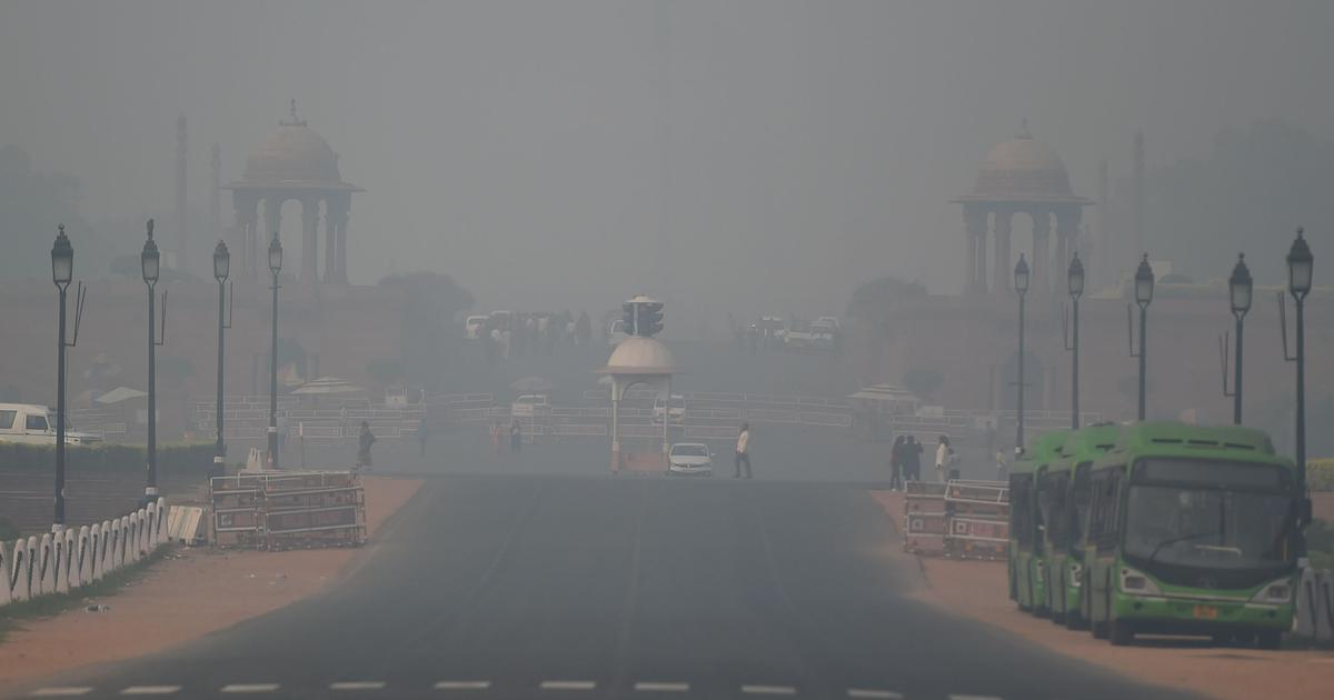 Delhi's air quality slips into 'severe' category due to below-normal temperature