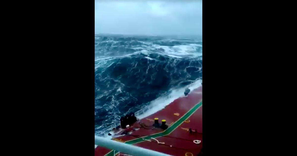 Watch: Viral video of a giant wave revives age-old debate, 'god or science?'