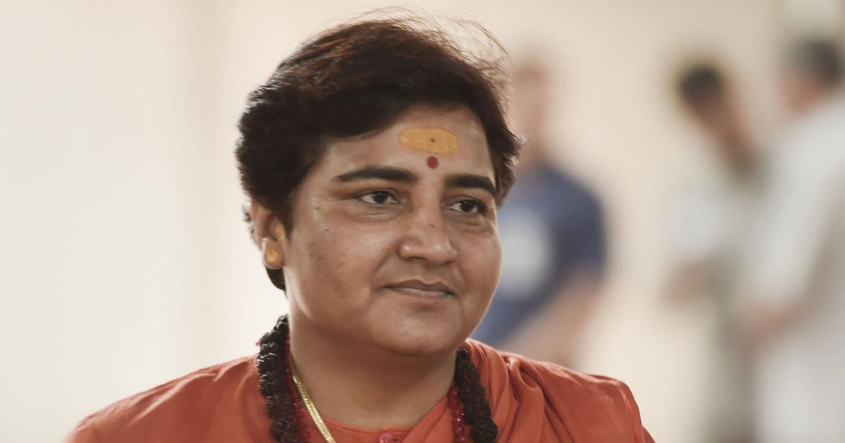 NSUI workers shout 'terrorist go back' to Pragya Thakur in Bhopal, BJP MP to take legal action