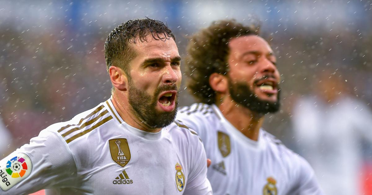 La Liga: Real Madrid ride on Dani Carvajal's winner to edge past Alaves and go top of the table