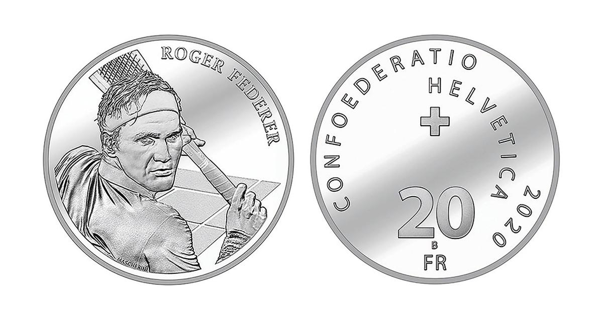 Federer becomes first living person to be commemorated on Swiss coin, demand crashes official site