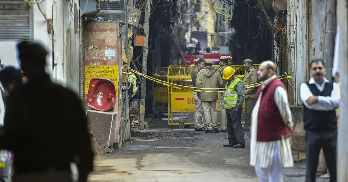 Anaj Mandi: Fire breaks out at same building where 43 people died on Sunday