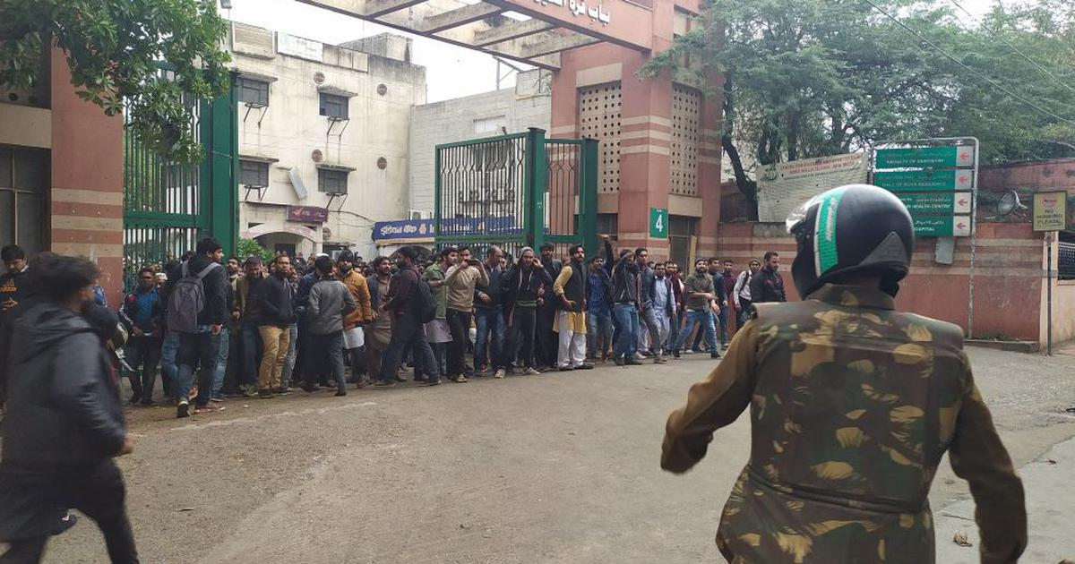 Jamia students baton-charged by Delhi Police during march to protest Citizenship Act, 50 detained