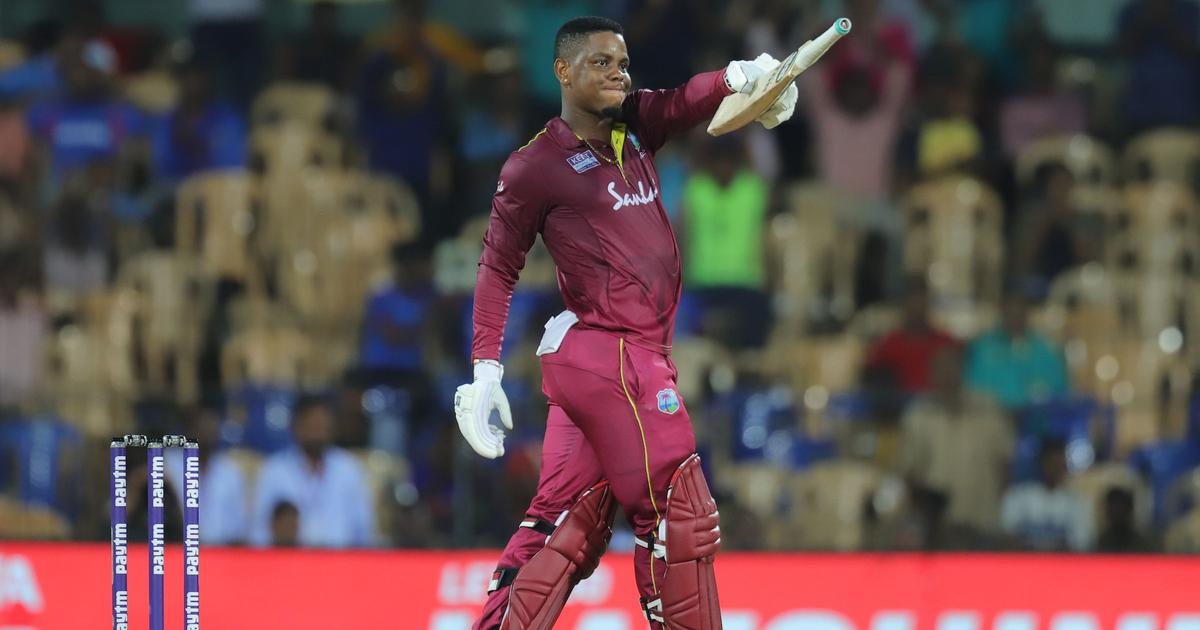 1st ODI: Hetmyer, Hope's centuries power West Indies to eight-wicket win against India