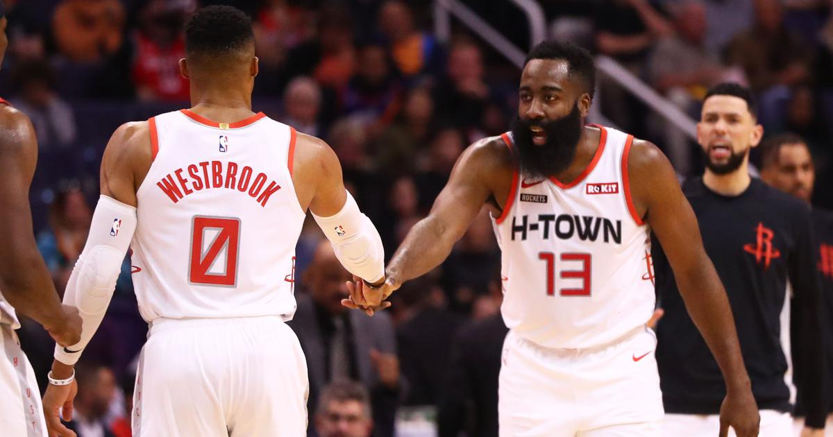 Image result for russell westbrook and james harden 2019-20