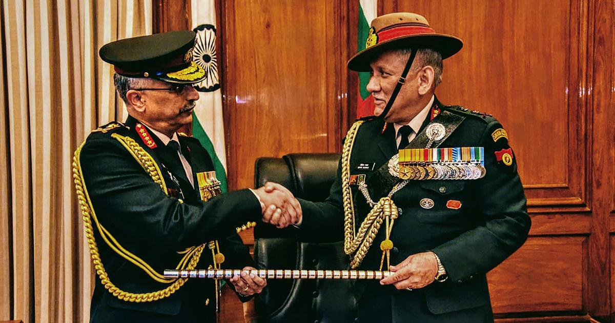 जनरल मनोज मुकुंद नरवाने ने नये सेना प्रमुख का कार्यभार संभाला