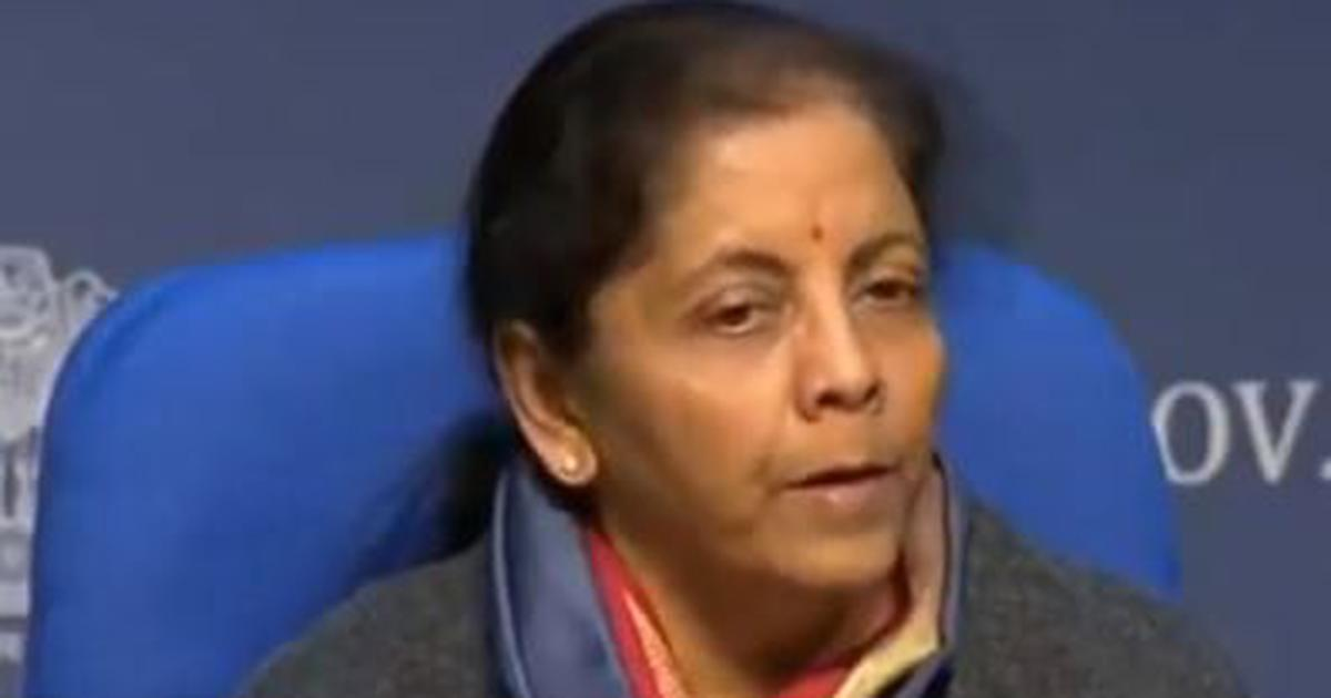 Nirmala Sitharaman announces infrastructure projects worth Rs 102 lakh crore for next five years