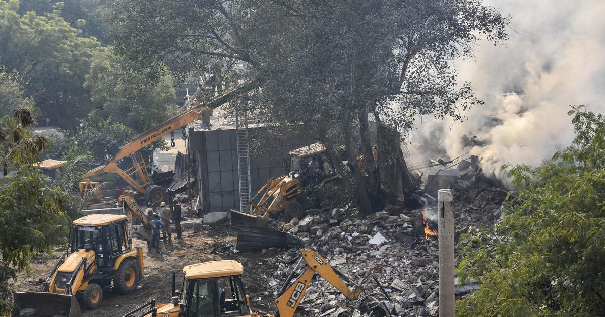 Delhi: Firefighter dies after burning battery factory collapses in Peera Garhi